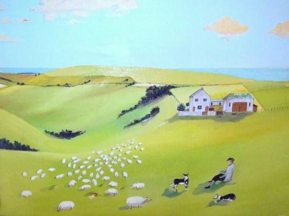 *Newmarket Farm, painted by Bob (Desmond) Phipps