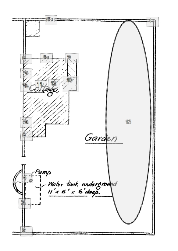 Newmarket Cottage Trench Plan; January 2013.