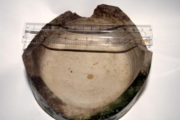Stoneware jar base, from rubble mound