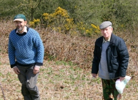 Bob Phipps and myself on a tour of the east side of the site; 28th April 2013.