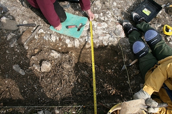 Foundation bed of mortar