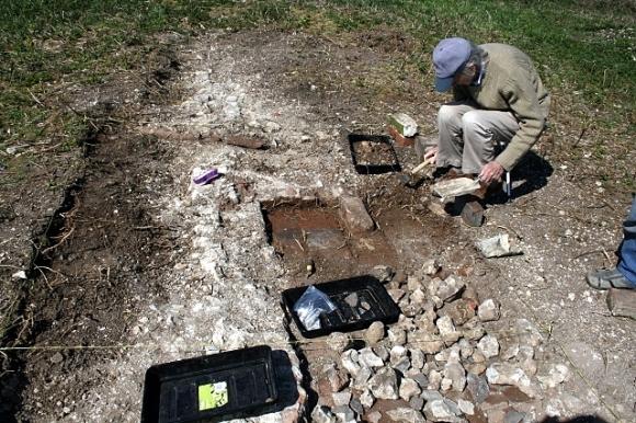 Excavating the possible front door