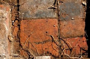 Looking S at tiled floor near front door; 3rd May 2013.