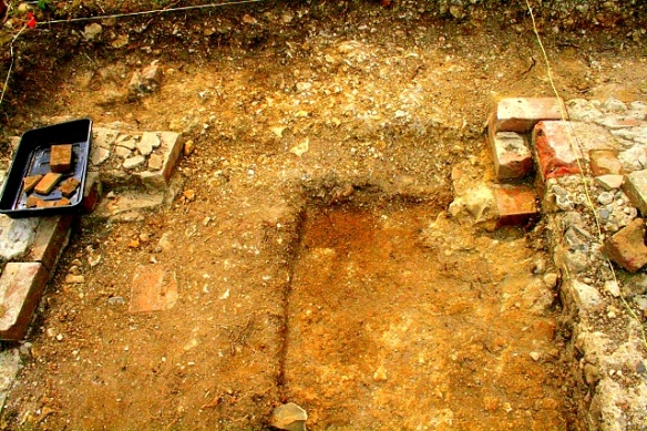 Colour-enhanced photo of excavated extension