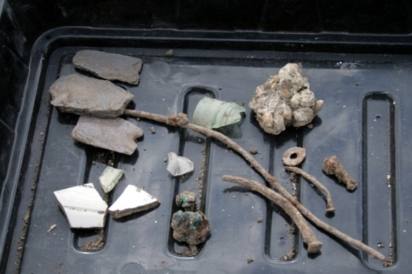 Some finds from demolition layer in vicinity of toilet