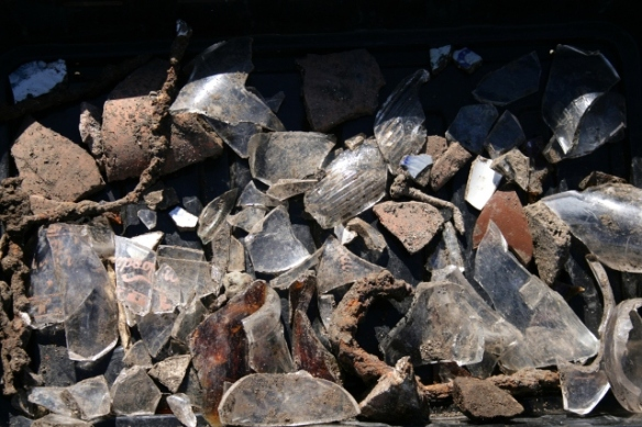Shippams fish/meat paste jar shards, and other finds