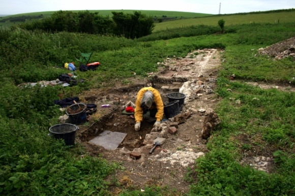 Excavating the outside toilet