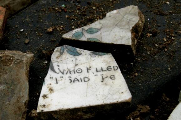 'Who killed Cock Robin' saucer or tea plate