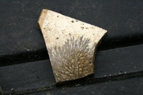 Shard of 'mochaware' ceramic