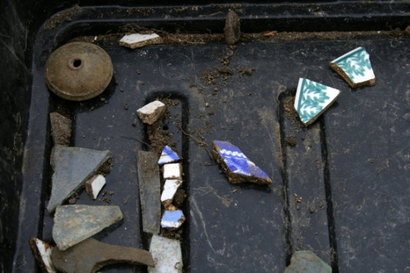 Some finds from S of cottage extension