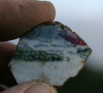 Decorated ceramic sherd; 22nd November 2013.