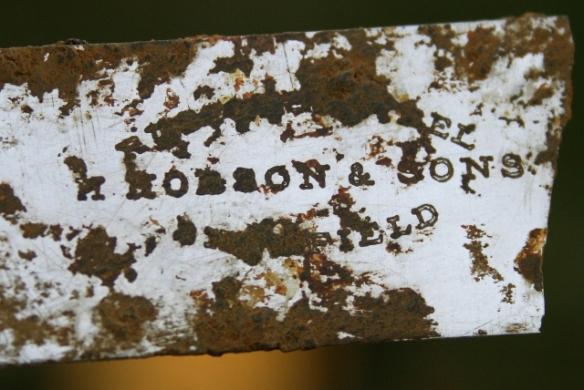 Rustless (stainless) steel desert knife by H. Hobson & Sons, Sheffield