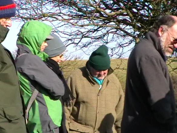 Some very well dressed guided tour attendees looking at some archaeology, 3/11/13