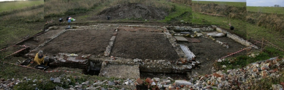 Panorama looking E at dig site