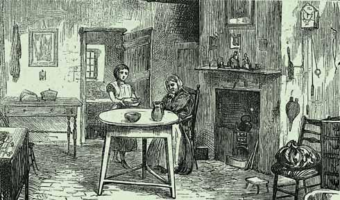 Inside a good quality mid-Victorian agricultural labourer's cottage; 'Dorset Life'