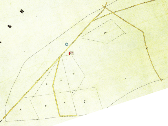 Earliest plan of Newmarket Farm - 1830