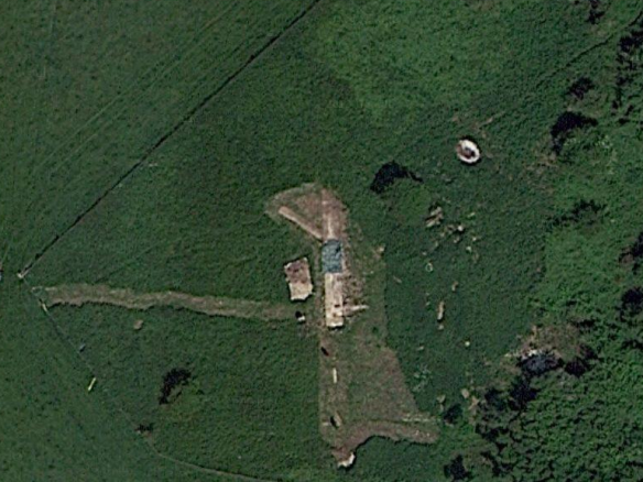Google Satellite Image of Newmarket Farm Dig; 6th June 2013