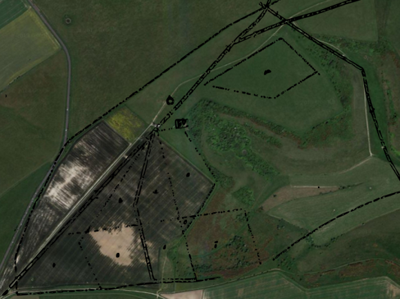 Google Satelite image with 1830 plan outline