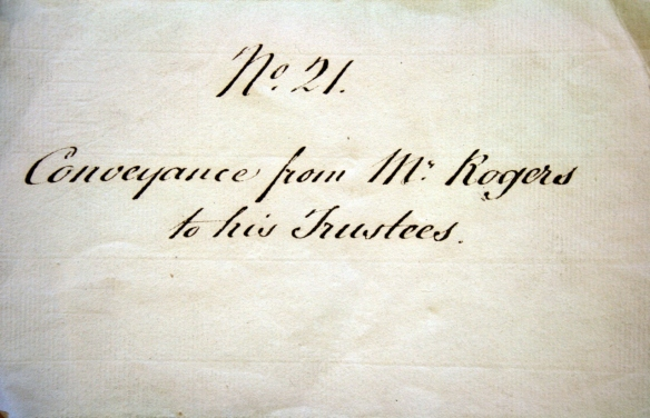 Cover of 1825 Trustee Document
