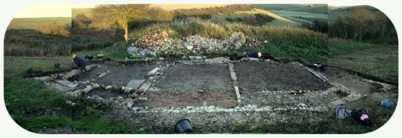 Newmarket Farm Cottage Excavation - Right click for enlarged image