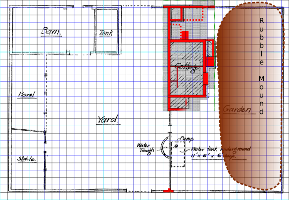 Newmarket Farm Dig Excavation Plan; based on a plan in Selbach papers dated 1922, East Sussex Record Office.