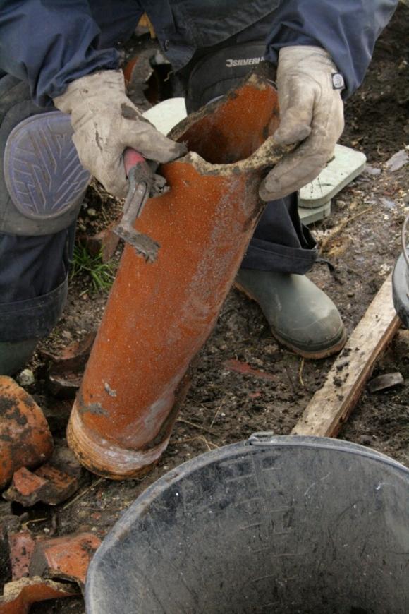 "4"" salt glazed stoneware drain pipe"