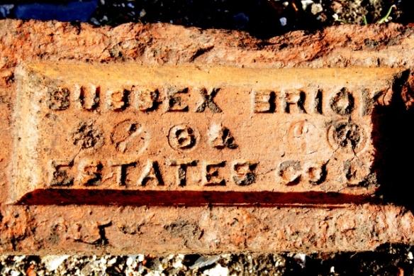Sussex Brick Estates Co. Ltd brick, part of front doorstep