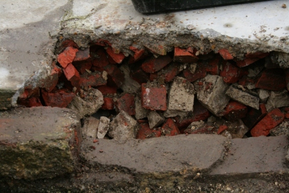 Looking W at excavation of E side of outside toilet