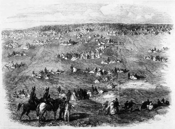 Volunteer Field-Day at Brighton: People on the Downs; London Illustrated News, 1862