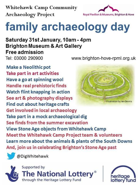 Family Archaeology Day poster