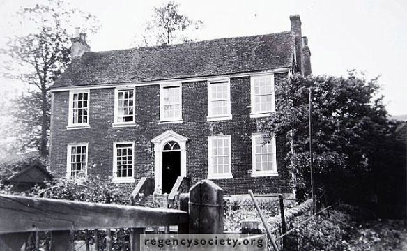 The Georgian farm house of Balsdean. (Photo: James Gray Collection, Regency Society).