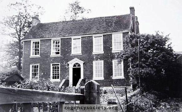 The Georgian farm house of Balsdean. (Photo: James Gray Collection, Regency Society).