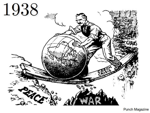 Punch Cartoon 1938, Chamberlain & World Crisis