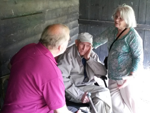 My parents with Mr Edwards. Michelham Priory WW2 Event, 19th August 2015.