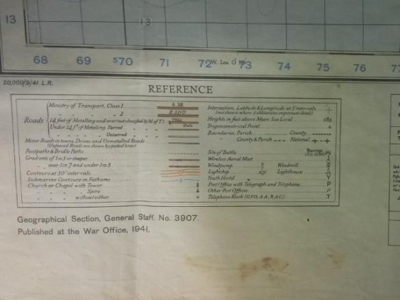 "War Office 1"" O.S. Map 1941."