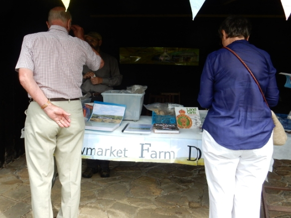 Visitors to stall at Michelham WW2 Event