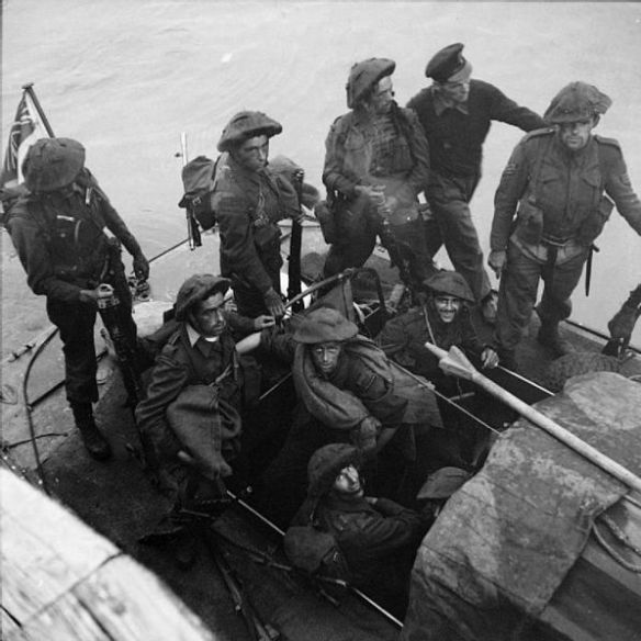 No. 3 Commando returning to Newhaven after Dieppe raid