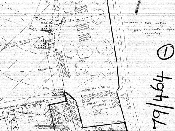 Detail of Falmer Old Forge Barn Plan, Lewes District Council, 1979.