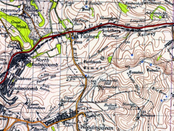 Falmer, O.S. 1945. Map courtesy of National Library of Scotland.