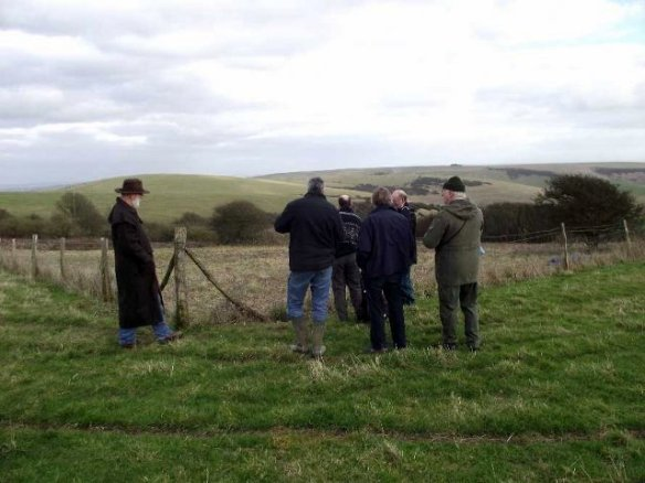 Examining Newmarket Farm. Photo John Funnel BHAS