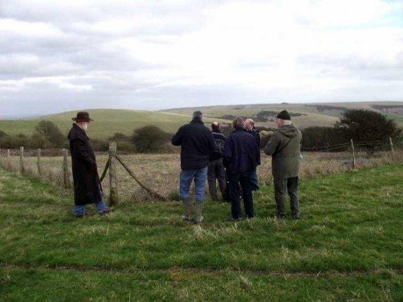 Examining Newmarket Farm. Photo John Funnel BHAS