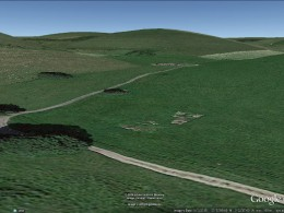 Similar view to that of photo of tanks moving into Balsdean, shortly after May 1942? Screenshot from Google Earth.