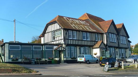 The Downs Hotel, Warren Road, Woodingdean, City of Brighton and Hove, England. 22 October 2011. By Hassocks5489 (Own work) [CC0], via Wikimedia Commons.