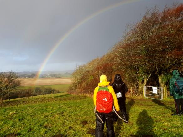 Rainbow west of Newmarket Plantation.
