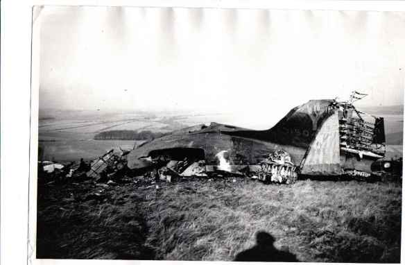 1944 Dakota plane crash, with Crandean plantation in background