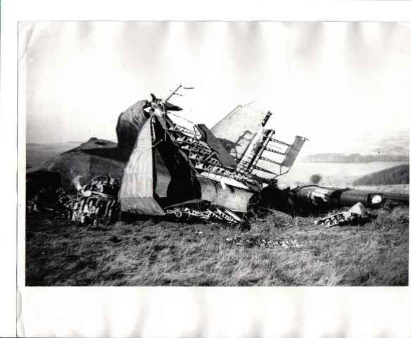 1944 Dakota plane crash, with Newmarket and Crandean Plantations to the right of the picture.