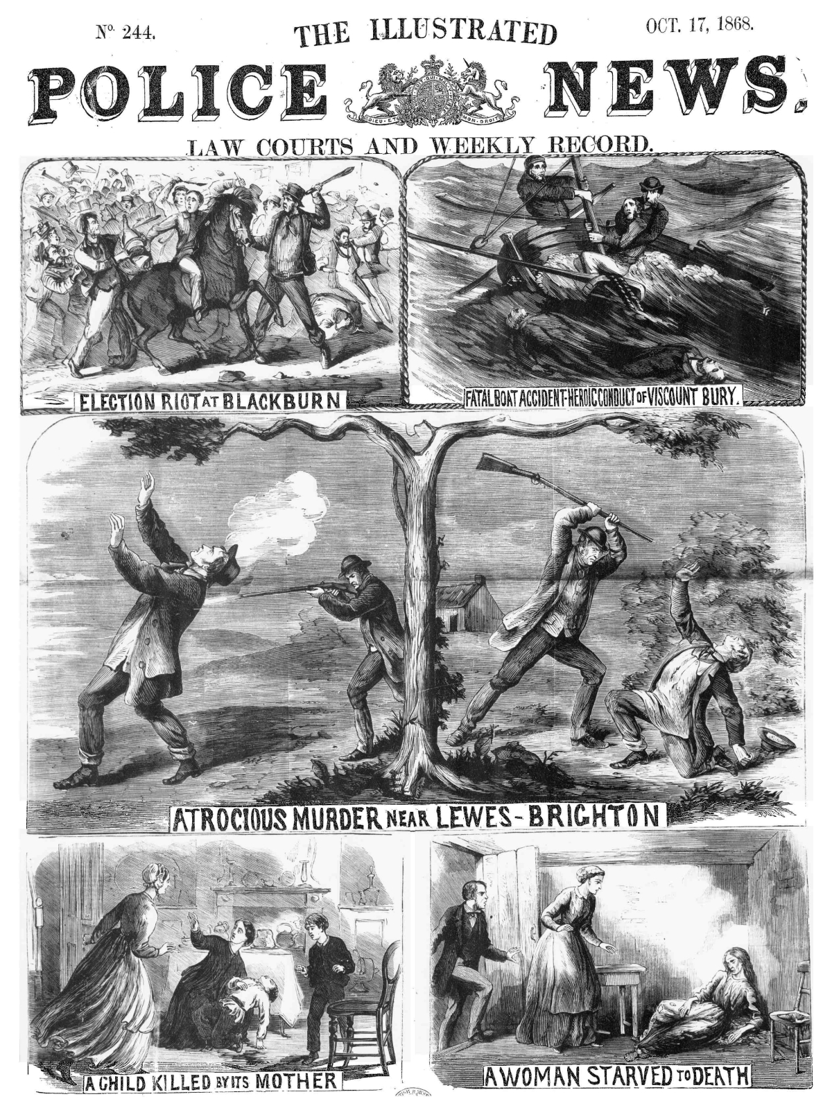 Illustrated Police News - 17th October 1868