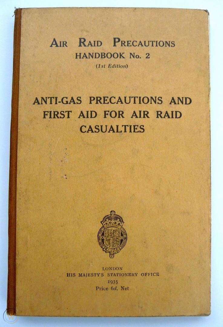 Air Raid Precautions Handbook 2, Home Office publication, 1935