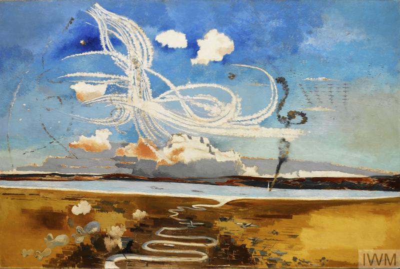 Battle of Britain as illustrated by Paul Nash, 1941. From IWM.