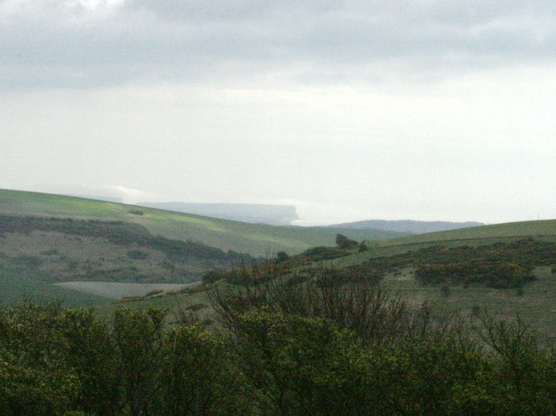 View from Newmarket Hill to Seaford Head and Cuckmere Haven.